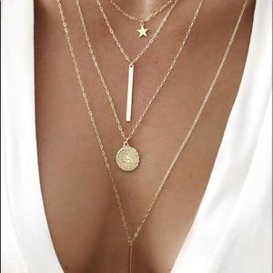 NWT Coin Layered Necklace